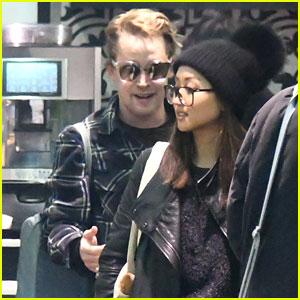 Macaulay Culkin & Girlfriend Brenda Song Go Grocery Shopping in Paris