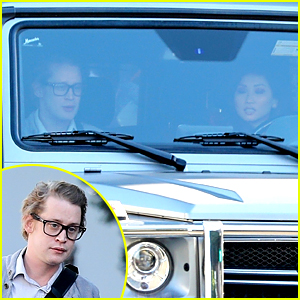 Macaulay Culkin Catches a Ride from Girlfriend Brenda Song