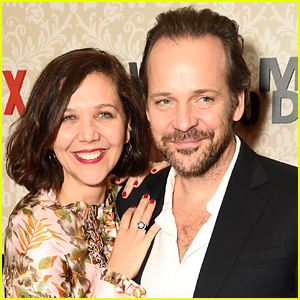 Maggie Gyllenhaal Supports Husband Peter Sarsgaard at 'Wormwood' Premeire in NYC