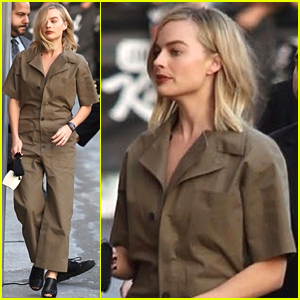 Margot Robbie Rocks Brown Jumpsuit While Arriving at 'Jimmy Kimmel Live' to Promote 'I, Tonya'
