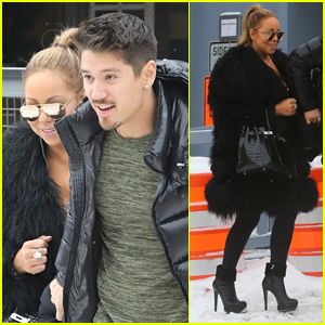 Mariah Carey Braves the Snow in Heels While Out with Boyfriend Bryan Tanaka