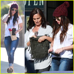 Megan Fox Treats Herself To Lunch Date with Mom Gloria!