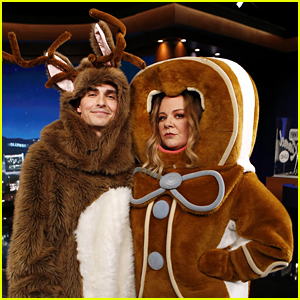 Melissa McCarthy & Dave Franco Chat While Wearing Christmas Costumes - Watch Now!