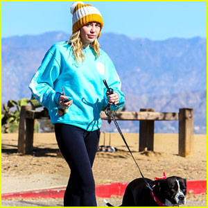 Miley Cyrus & Pup Mary Jane Step Out for a Hike in LA