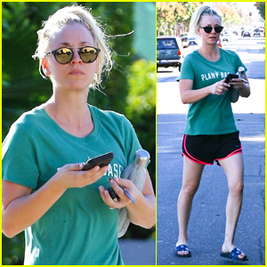 Newly Engaged Kaley Cuoco Heads to Morning Yoga Class