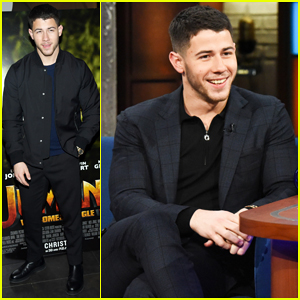 Nick Jonas Debuts 'Jumanji' Theme Song & Takes Part in 'Rescue Dog Rescue' Skit on 'Late Show'!