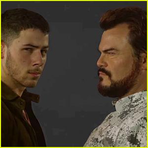 Nick Jonas & Jack Black Debut Hilarious 'Jumanji Jumanji' Music Video - Watch Now!