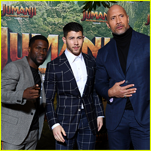 Nick Jonas, Dwayne Johnson & Kevin Hart Bring 'Jumanji' to Paris!
