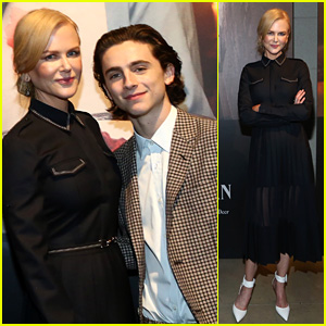Nicole Kidman & Timothee Chalamet Get Together to Celebrate Their Great Performances!