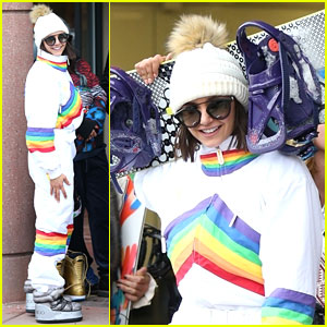 Nina Dobrev Is a Snow Bunny in Aspen