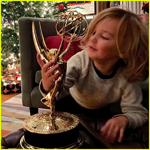 Olivia Wilde's Son Otis Plays With Her Emmy Statue - See the Cute Pic!