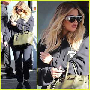 Pregnant Khloe Kardashian Covers Up Baby Bump While Filming 'KUWTK'