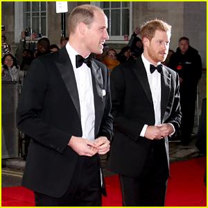 Princes William & Harry Attend 'Star Wars: The Last Jedi' Premiere!