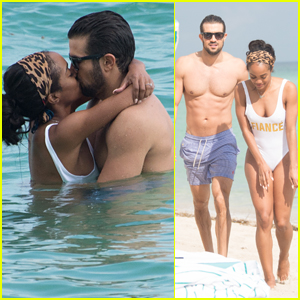 The Bachelorette's Rachel Lindsay & Fiance Bryan Abasolo Pack on the PDA in Miami!