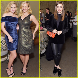 Reese Witherspoon & Ava Phillippe Buddy Up with Lily Collins at Molly R. Stern x Sarah Chloe Jewelry Collaboration Launch!