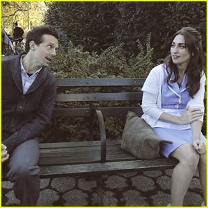 Sara Bareilles & Jason Mraz Sing a 'Waitress' Song in the Park (Video)
