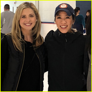 Sarah Michelle Gellar's Daughter Learns to Ice Skate from Michelle Kwan!