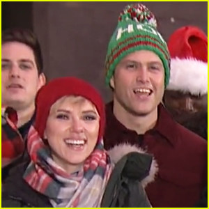 Scarlett Johansson & Colin Jost Hold Hands While Ice Skating in 'SNL' Video - Watch Now!