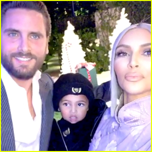Scott Disick Stopped by the Kardashian Christmas Party