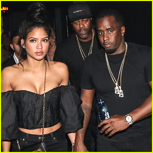 Sean 'Diddy' Combs & Girlfriend Cassie Hold Hands at a Party in Miami