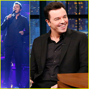 Seth MacFarlane Performs 'Almost Like Being in Love' on 'Late Night' - Watch Here!