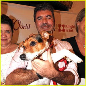 Simon Cowell Co-Hosts Dog Rehoming Charity Event With Family in Barbados!