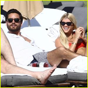 Scott Disick & Sofia Richie Couple Up Beach Side in Miami