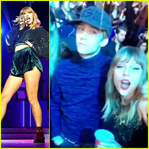 Taylor Swift & Joe Alwyn Dance to Ed Sheeran's Music at Jingle Bell Ball! (Video)