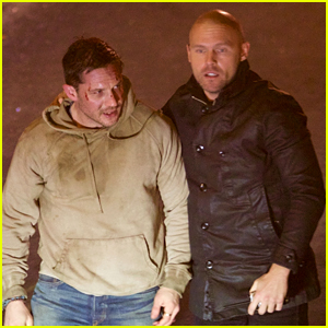 Tom Hardy Films a 'Venom' Fight Scene with Scott Haze! (Photos)