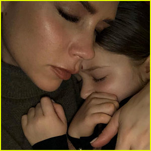 Victoria Beckham Shares Adorable Photo Snuggling Daughter Harper - See the Pic!