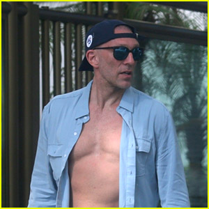 Vincent Cassel Keeps His Shirt Unbuttoned in Brazil!