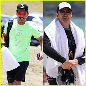 Zac Efron & Hugh Jackman Hit the Beach in Sydney!