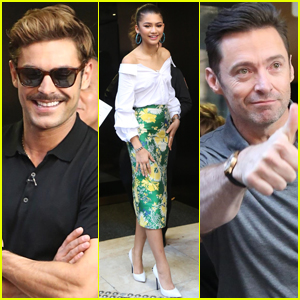 Zac Efron, Zendaya, & Hugh Jackman Promote 'The Greatest Showman' in Sydney