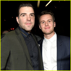 Former Couple Zachary Quinto & Jonathan Groff Reunite at GQ Men of the Year Party