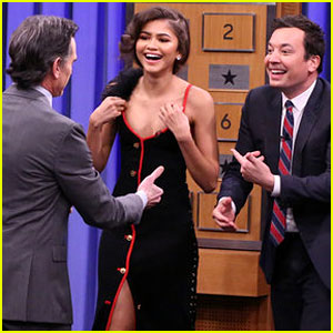 Zendaya Challenges Billy Crudup & Jimmy Fallon to Charades (Video)