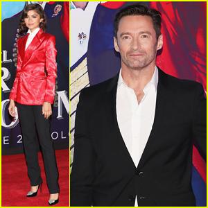 Zendaya & Hugh Jackman Both Suit Up for 'The Greatest Showman' Mexico City Premiere!