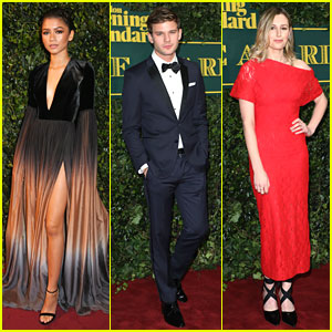 Zendaya, Jeremy Irvine, & Laura Carmichael Hit Up London Evening Standard Awards