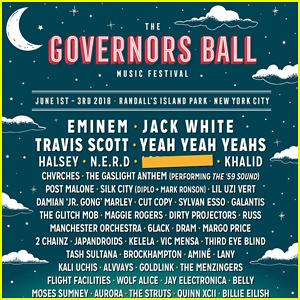 2018 Governors Ball Festival Lineup Revealed: Eminem, Jack White & Travis Scott Are Headlining!