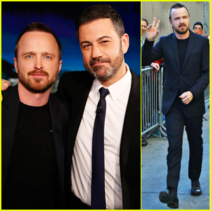 Aaron Paul Tells 'Jimmy Kimmel' His Baby Girl Is Due 'Any Minute Now'!