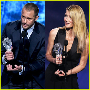 'Big Little Lies' Co-Stars Alexander Skarsgard & Laura Dern Win Big at Critics' Choice Awards 2018!