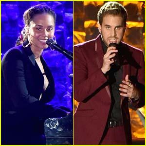 Alicia Keys & Ben Platt Perform at Clive Davis' Pre-Grammys Party!