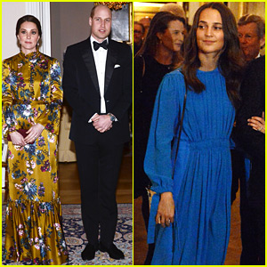 Alicia Vikander Joins Pregnant Kate Middleton at Dinner with Swedish Royal Family