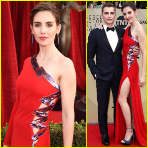 Alison Brie Addresses James Franco Allegations at SAG Awards 2018, Walks Carpet with Husband Dave Franco