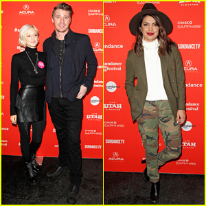 Andrea Riseborough & Garrett Hedlund Get Support from Priyanka Chopra at 'Burden The Park' Sundance Premiere!