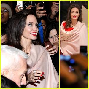 Angelina Jolie Is Swarmed by Fans Outside Guerlain Store in Paris!