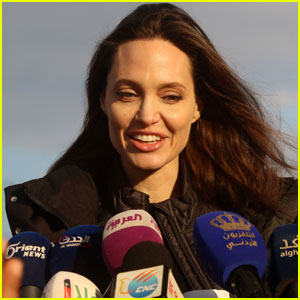 Angelina Jolie Brings Shiloh & Zahara to Jordan to Meet Syrian Refugees