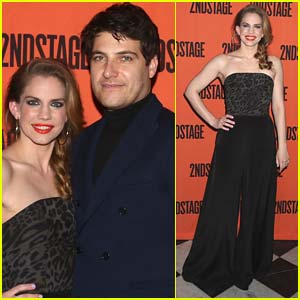 Anna Chlumsky & Adam Pally Attend Opening Night of 'Cardinal' in NYC