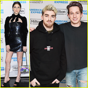 Anna Kendrick Enjoys Unique Experience with Charlie Puth at Hilton x American Express Launch!