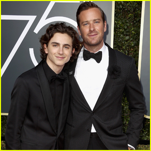 Armie Hammer & Timothee Chalamet Suit Up For Golden Globes 2018!