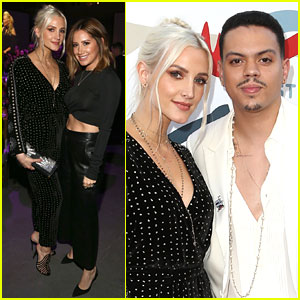 Ashlee Simpson & Evan Ross Join Ashley Tisdale at Grammy Viewing Party